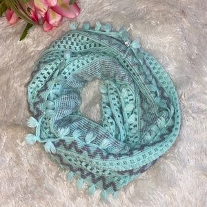 Teal Knitted Infinity Scarf